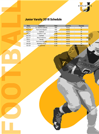 2019 Junior Varsity Schedule